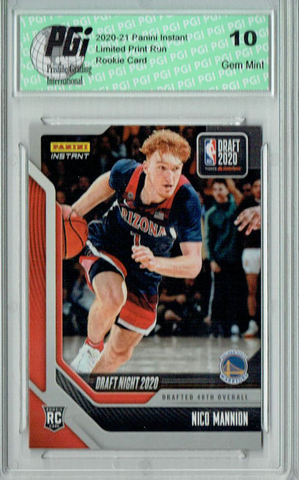 Nico Mannion 2020 Panini Instant Draft Night #DN21 329 Made Rookie Card PGI 10