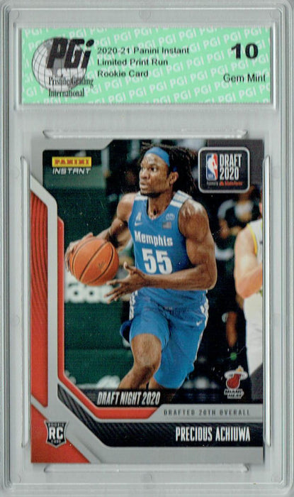 Precious Achiuwa 2020 Panini Instant Draft Night #DN26 1/312 Rookie Card PGI 10