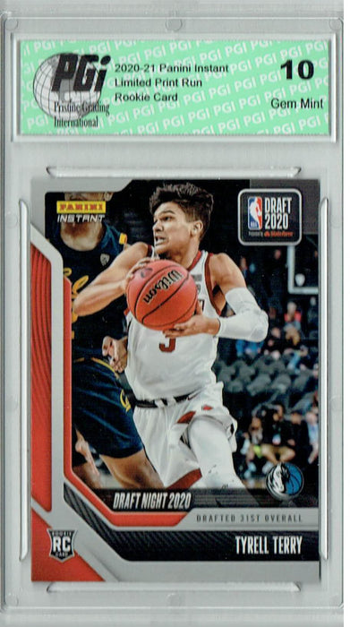 Tyrell Terry 2020 Panini Instant Draft Night #DN32 284 Made Rookie Card PGI 10