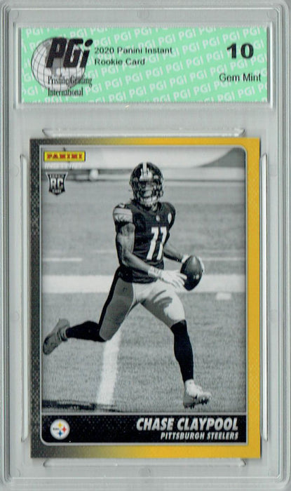 Chase Claypool 2020 Panini Instant Black & White #BW8 1/518 Rookie Card PGI 10