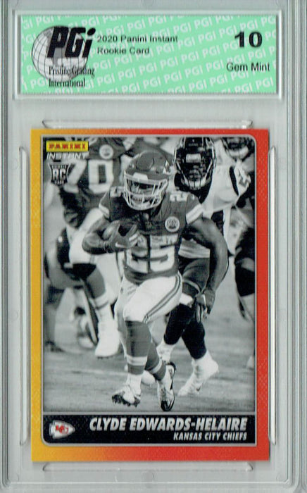 Clyde Edwards-Helaire 2020 Panini Black/White #BW12 1/518 Rookie Card PGI 10