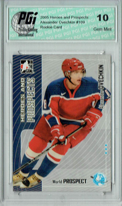 Alexander Ovechkin 2005 ITG Heroes & Prospects #109 Rookie Card PGI 10