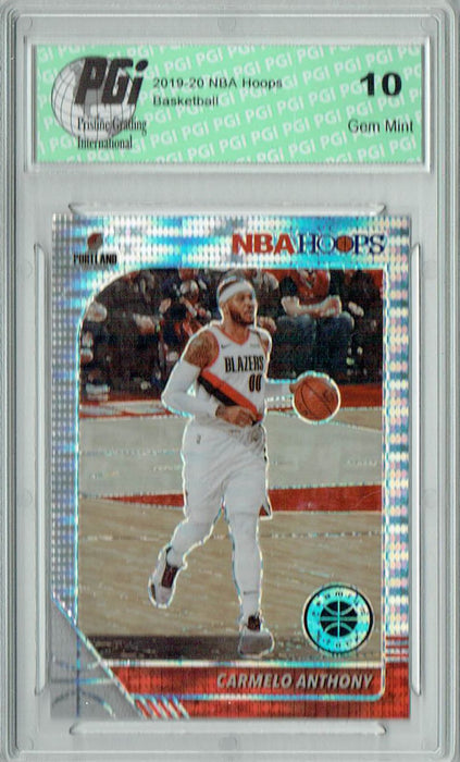 Carmelo Anthony 2019 NBA Hoops #105 Pulsar Premium Stock Card PGI 10