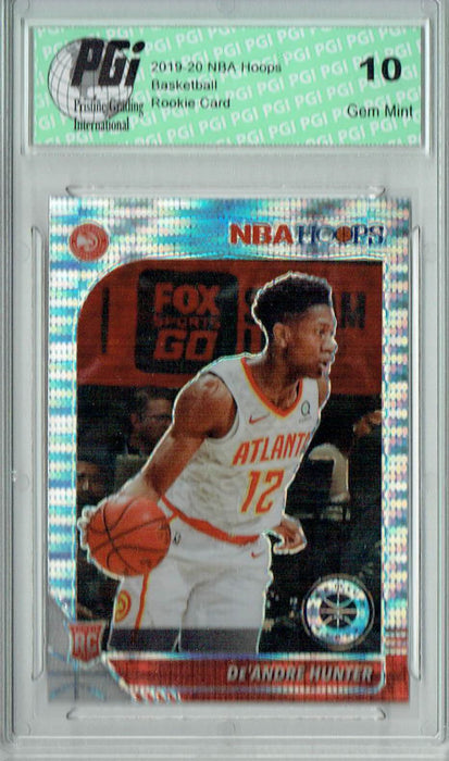 De'Andre Hunter 2019 NBA Hoops #202 Pulsar Premium Stock Rookie Card PGI 10