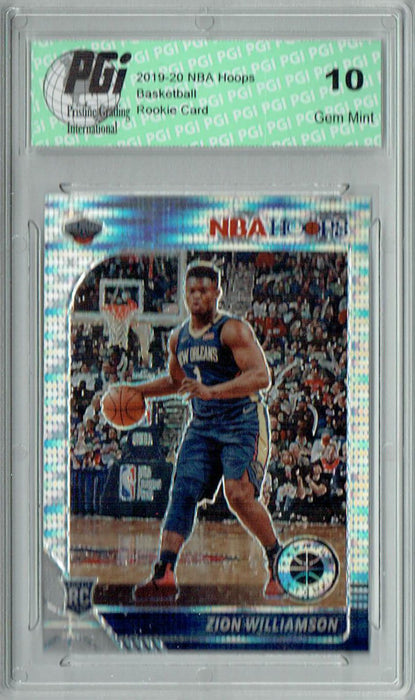 Zion Williamson 2019 NBA Hoops #258 Pulsar Premium Stock Rookie Card PGI 10