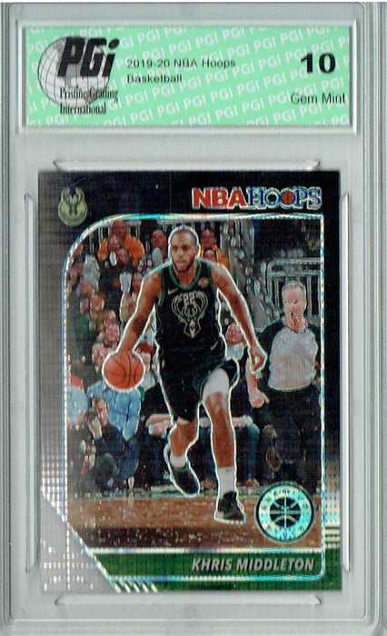 Khris Middleton 2020 NBA Hoops #107 Pulsar Premium Black Card PGI 10