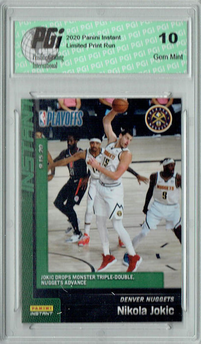 Nikola Jokic 2019 Panini Instant #197 Green SP, Just 10 Made SSP Card PGI 10