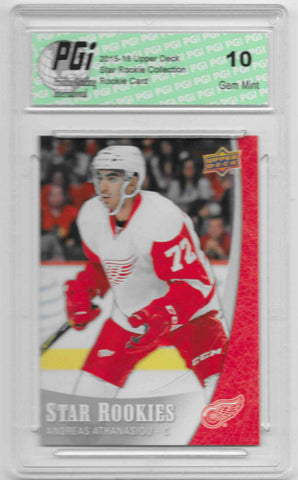 Andreas Athanasiou 2015-16 Upper Deck Star Rookies #20 Rookie Card PGI 10