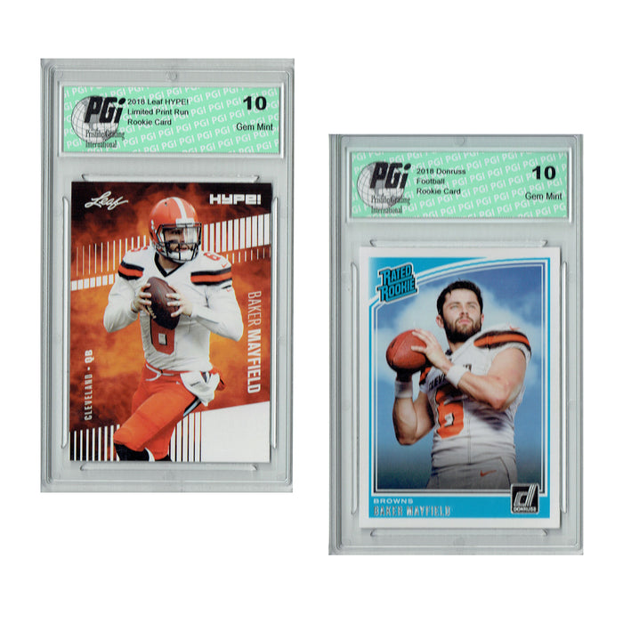 Baker Mayfield 2018 Rookie Cards 2-Pack Leaf HYPE! #3A Donruss #303 PGI 10
