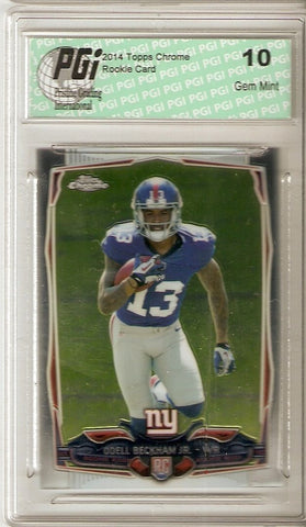 Odell Beckham Jr. 2014 Topps Chrome #117 New York Giants True Rookie Card PGI 10