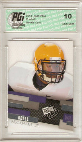 Odell Beckham, Jr. 2014 Press Pass 1st Licensed Rookie Card PGI 10