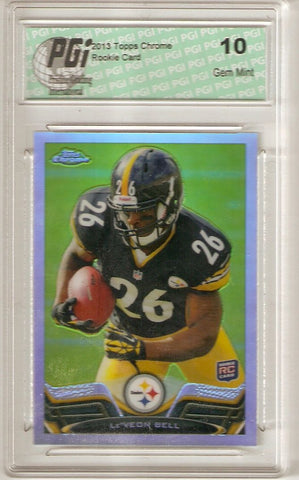 Le'Veon Bell Leveon 2013 Topps Chrome REFRACTOR #198 Rookie Card PGI 10