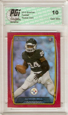 Leveon Bell 2013 Bowman Red Refractor Only 199 Made Rookie Card PGI 10