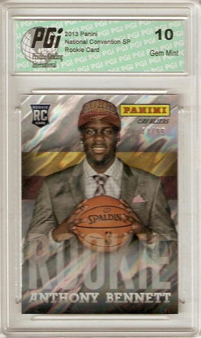Anthony Bennett 2013 Panini Lava National Conv. Only 99 Made Rookie Card PGI 10