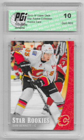Sam Bennett 2015-16 Upper Deck Star Rookies #3 Rookie Card PGI 10