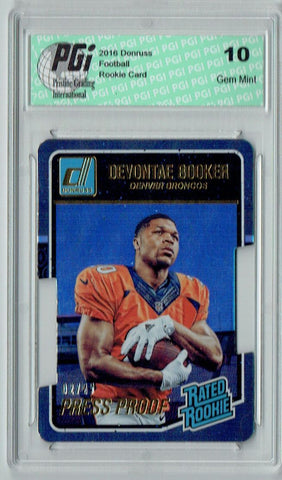 Devontae Booker 2016 Donruss Rated Rookie #366 Only 25 Made Rookie Card PGI 10