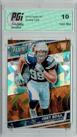 Joey Bosa 2016 Panini Cracked Ice #51 SP, 25 Made Rookie Card PGI 10