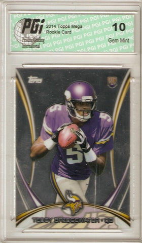 Teddy Bridgewater 2014 Topps Mega Chrome #5 Minnesota Vikings Rookie Card PGI 10