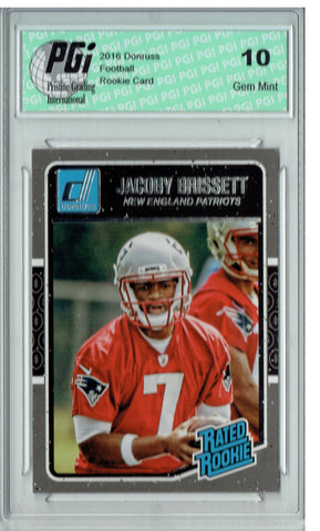 Jacoby Brissett 2016 Donruss Rated Rookie #370 SP Rookie Card PGI 10