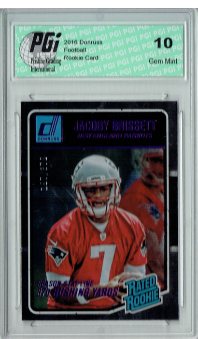Jacoby Brissett 2016 Donruss Rated Rookie #370 370 Made Rookie Card PGI 10