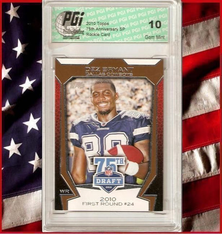 Dez Bryant Rare 2010 Topps 75th Rookie Card PGI 10