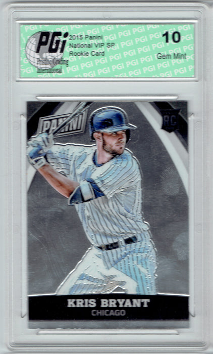 Kris Bryant 2015 Panini National VIP SP Rookie Card #61 PGI 10