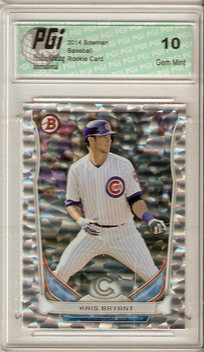 2014 Bowman Rookie Card Silver Ice Refractor #TP62 Kris Bryant PGI 10