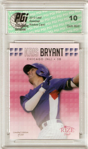 2013 Leaf Rize Pink SP Rookie Card Only 200 Made #11 Kris Bryant PGI 10