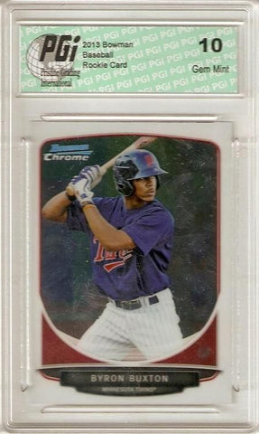 Byron Buxton 2013 Bowman Chrome #BCP1 Minnesota Twins Rookie Card PGI 10