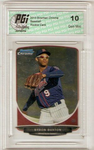 Byron Buxton 2013 Bowman Chrome #TP-1 Rookie Card PGI 10