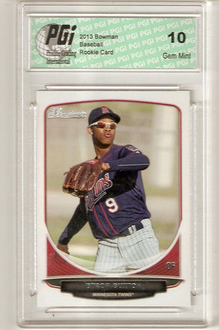Byron Buxton 2013 Bowman Regular #TP-1 Rookie Card PGI 10