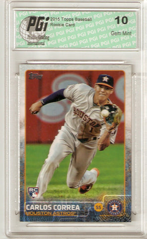 Carlos Correa 2015 Topps Update #US174 Rookie Card PGI 10