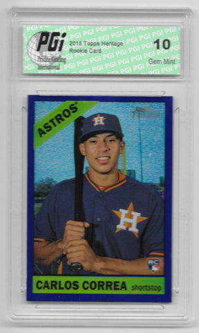 Carlos Correa 2015 Topps High #563 Purple Refractor Rookie Card PGI 10