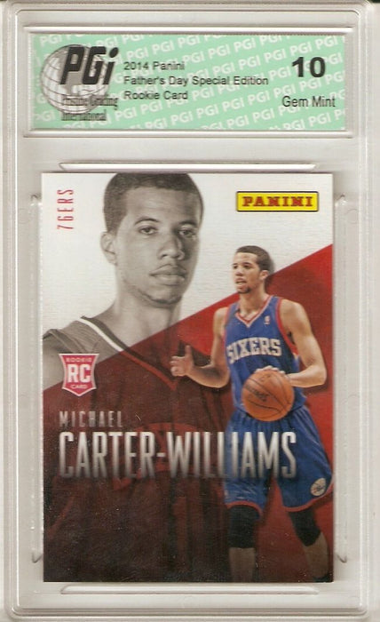 Michael Carter-Williams 76ers 2014 Panini Father's Day #R7 Rookie Card PGI 10