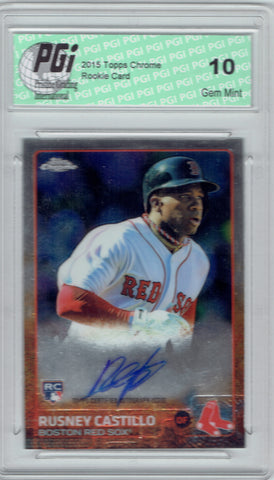 Rusney Castillo 2015 Topps Chrome Auto SP Rookie Card #AR-RC PGI 10