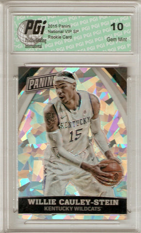 Willie Cauley-Stein 2015 Cracked Ice Only 25 Made Rookie Card #90 PGI 10