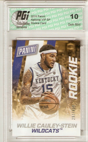 - Willie Cauley-Stein 2015 Panini National 499 Made Rookie Card #35 PGI 10