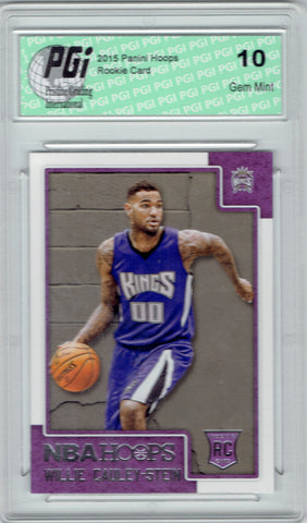 Willie Cauley-Stein 2015 Hoops #276 Rookie Card PGI 10 Kings