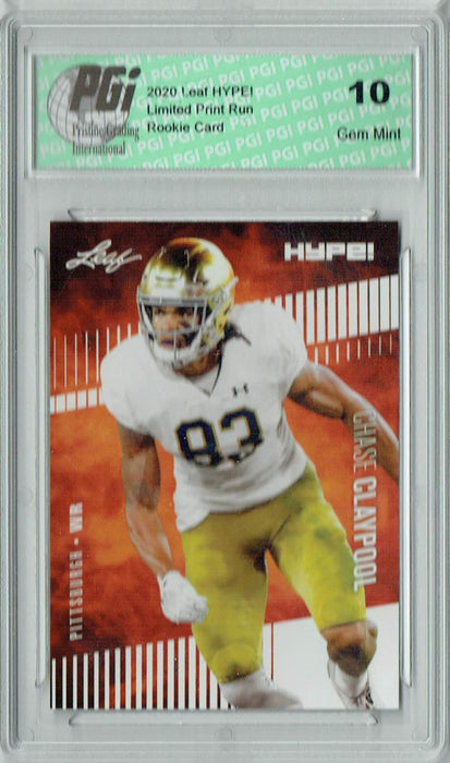 Chase Claypool 2020 Leaf HYPE! #40 Only 5000 Made Rookie Card PGI 10