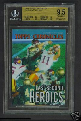 BGS 9.5 Topps Chronicles Reggie Bush/Matt Leinart Card