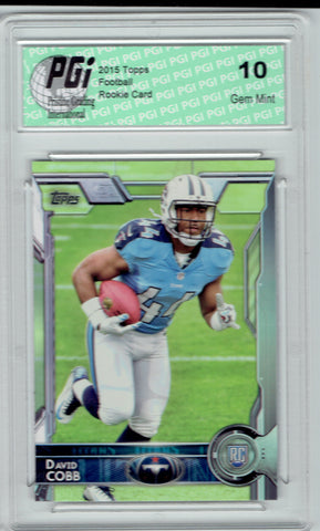 David Cobb 2015 Topps Football #432 Tennessee Titans Rookie Card PGI 10
