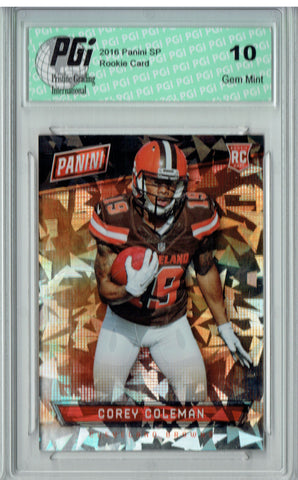 Corey Coleman 2016 Panini Cracked Ice #62 SP, 25 Made Rookie Card PGI 10