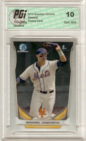 2014 Bowman Chrome Rookie Card #CDP7 Michael Conforto PGI 10