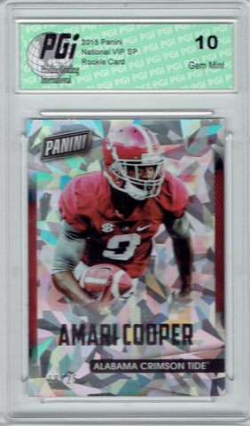 Amari Cooper 2015 National VIP #28 Rookie Card Cracked Ice 25 Made Bama