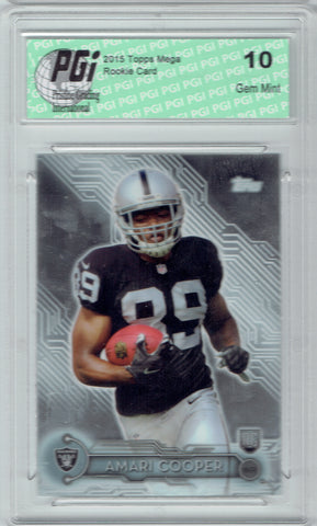Amari Cooper 2015 Topps Mega Chrome #6 Rookie Card PGI 10 Cowboys
