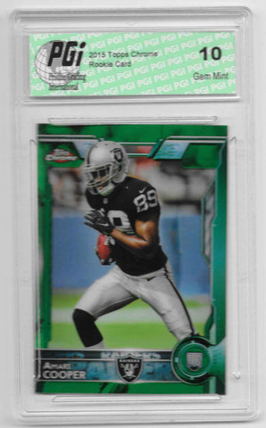 Amari Cooper 2015 Topps Chrome Green Refractor Rookie Card #115 PGI 10