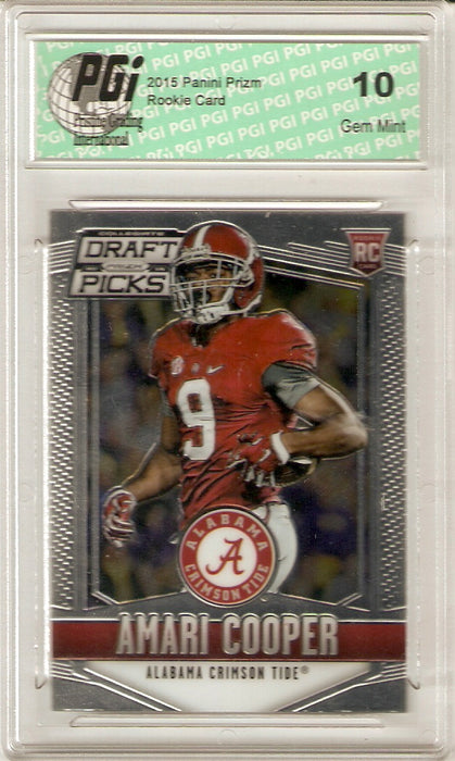 2015 Panini Prizm Draft Picks Rookie Card #101 Amari Cooper PGI 10