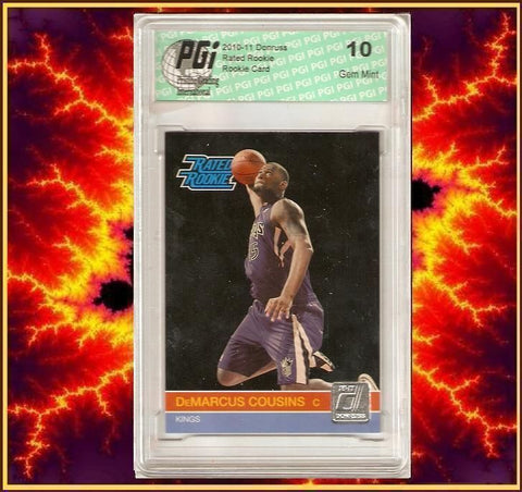 2010 Donruss DeMarcus Cousins Rated Rookie Card #232 PGI 10