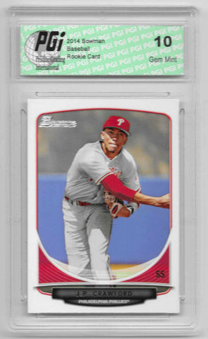 2014 J.P. Crawford Bowman Rookie Card BDPP32 PGI 10 Diamondbacks
