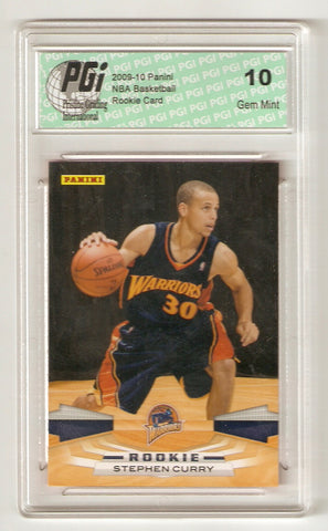 2009-10 Stephen Curry Golden State Warriors Panini #307 Rookie Card PGI 10